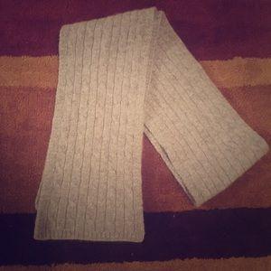 Grey cashmere scarf J. crew